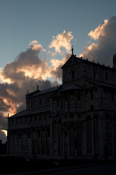 Sunset on the Pisa Cathedral