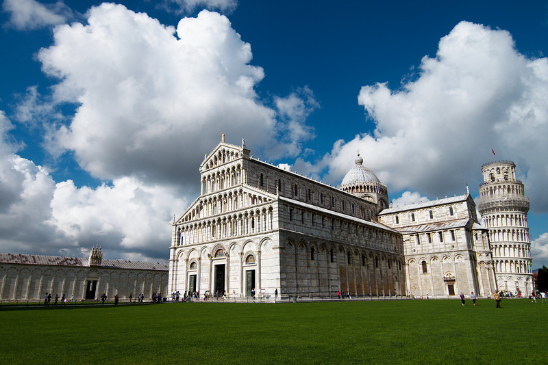The spectacular cathedral in the Piazza dei Miracoli