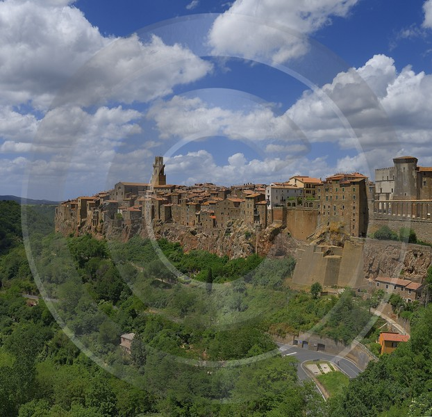 Pitigliano Tuscany Italy Toscana Italien Spring Fruehling Scenic Grass Modern Art Print - 013165 - 24-05-2013 - 6435x6204 Pixel