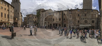 San Gimignano Old Town Tower Tuscany Winery Panoramic Fine Art Giclee Printing Fine Art Landscape - 022915 - 11-09-2017 - 15043x6899 Pixel