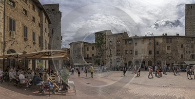 San Gimignano Old Town Tower Tuscany Winery Panoramic Fine Art Printer Fine Art Foto Images - 022913 - 11-09-2017 - 13391x6815 Pixel