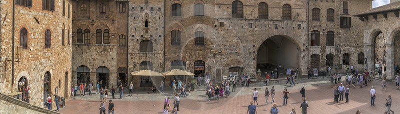 San Gimignano Old Town Tower Tuscany Winery Panoramic Western Art Prints For Sale Shoreline Cloud - 022911 - 11-09-2017 - 25919x7414 Pixel