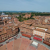 View of the Piazza del Campo from the top of the Torre del Mangia (102m)