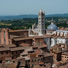 View of the Siena Cathedral from the top of the Torre del Mangia (102m)