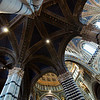 The beautiful interior of the Siena Cathedral