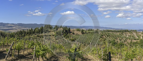 Volterra Old Town Tuscany Winery Panoramic Viepoint Lookout View Point Landscape - 022834 - 14-09-2017 - 17791x7607 Pixel