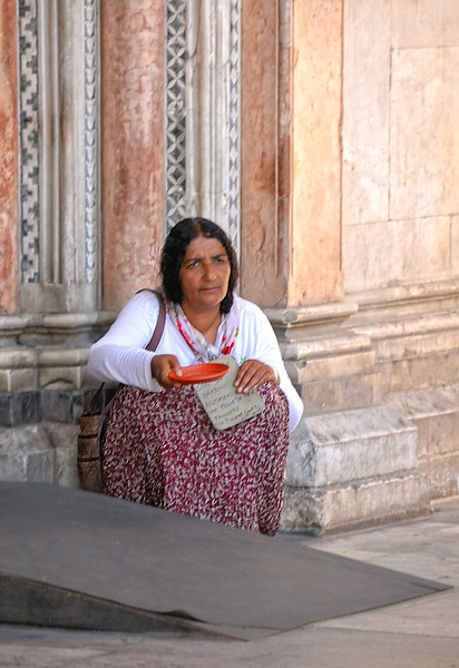 Lucca Cathedral Beggar