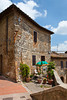 Building architecture in San Gimignano, Tuscany, Italy.