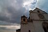 Clouds settling over the upper church, Basilica di San Francesco