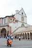 The lower plaza of the Basilica di San Francesco
