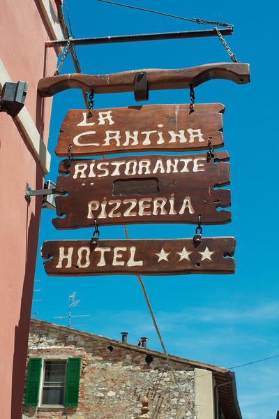 Our lunch stop, La Cantina Ristorante