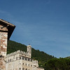 View of the Palazzo dei Consoli from lower Gubbio