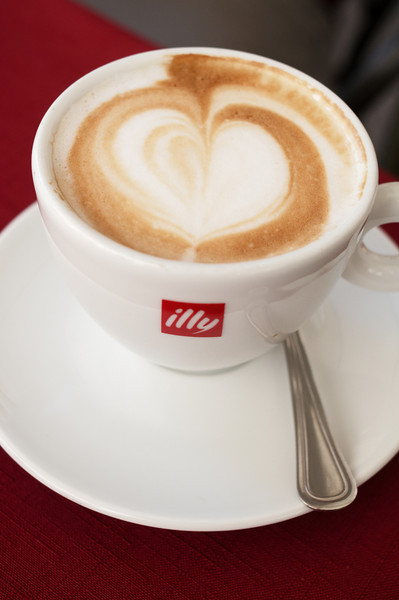 Cappuccino at a Perugia cafe