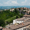 Looking out over Umbria over Perugia rooftops