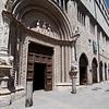 A door of the Palazzo dei Priori, on Corso Vannucci, Perugia's main street