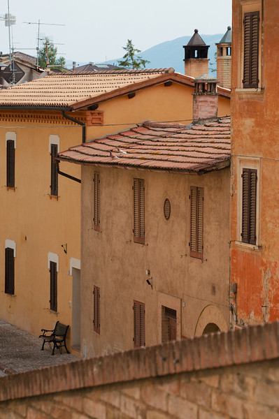 Deserted streets of Montefalco, in the late afternoon