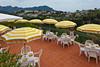 The outdoor patio and pool area of the Hotel La Margherita Villa Giuseppini in Scala, Italy.
