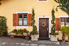 The village of Glurns Glorenza in Italy, Europe.