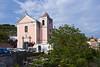 The small pastel Centro Castellano church in Santa Agata, Pastena, Campania, Italy.