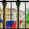 European and Italian Flags
