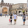 Walking through Piazza Bra