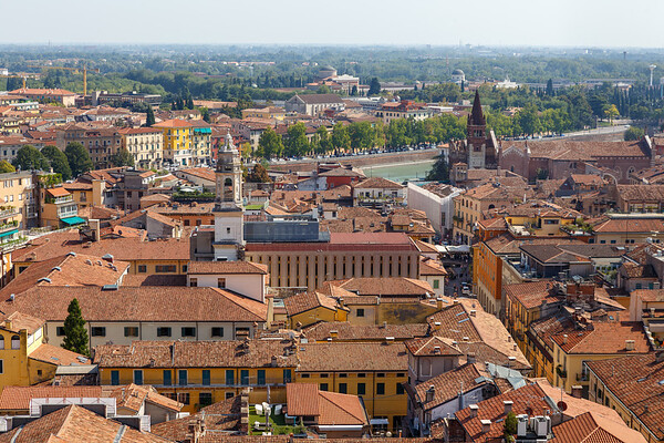 View of Verona from the Lamberti Tower