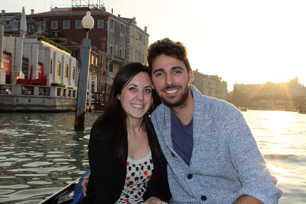 Romantic gondola ride in Venice for couples