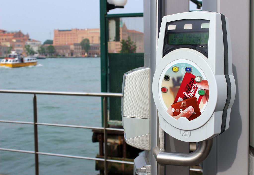 ACTV Tickets in Venice - White Vaporetto ticket machine