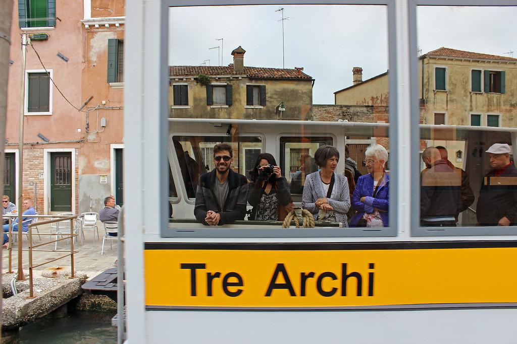 Venice transportation system on the vaporetto - Water taxi Venice