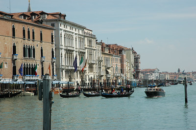 View of the Grand Canal as seen from the Guggenheim.