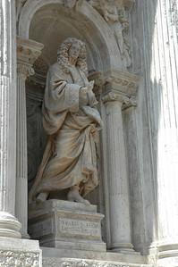 Detail on the Church of Santa Maria del Giglio.