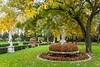Fal foliae in the gardens of the Villa Braida Hotel in Veneto, Mogliano, Venice, Italy, Europe.