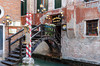 The canal side Poste Vecie restaurant in Venice , Italy.