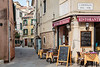 An outdoor restaurant in Veneto, Venice, Italy, Europe.