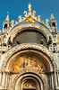 The architecture of cathedrals and churches in San Marcos Square, Italy, Europe.