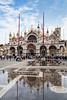 The Mark's Basilica in San Marco Square in Veneto, Venice, Italy, Europe,