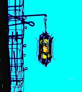 """Venetian Street Light or Traffic Light?"" ""Light Above a Canal"" - Venezia, Italia"