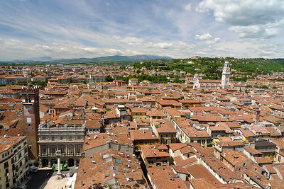 View of Verona roof tops from Lamberti Tower