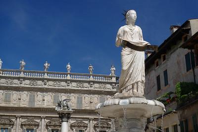 Fountain of Madonna Verona, Italy, Piazza delle Erbe