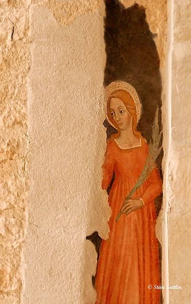 Fresco in Duomo - L'Aquila, Italy