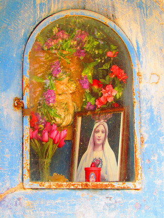 Virgin & Child Blue Shrine, Tuscany, Italy