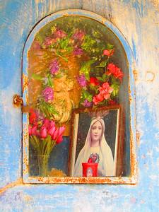 Virgin & Child Blue Shrine, Tuscany, Italy