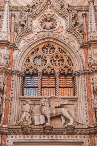 Porta della Carta, Entrance to Doge's Palace, Venice, Veneto