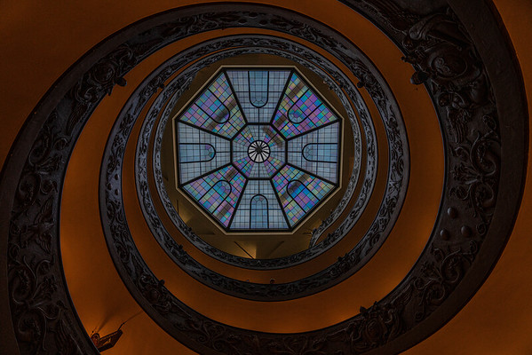 Bottom of the Bramante Staircase, Vatican