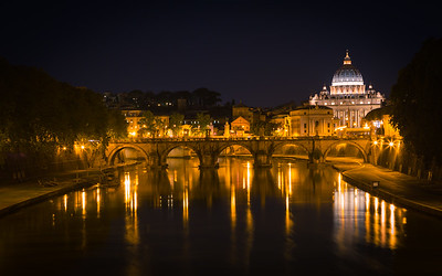 Tevere in Rome at night