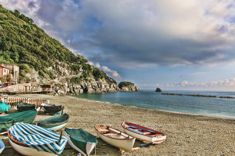 Boats On the Beach, Cinque Terre, Italy