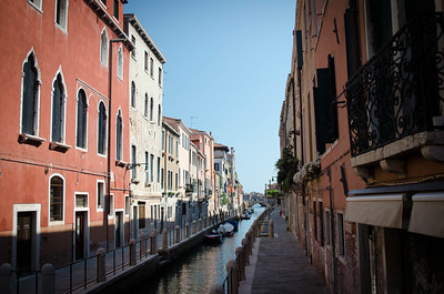 Venice Canal in Partial Sun