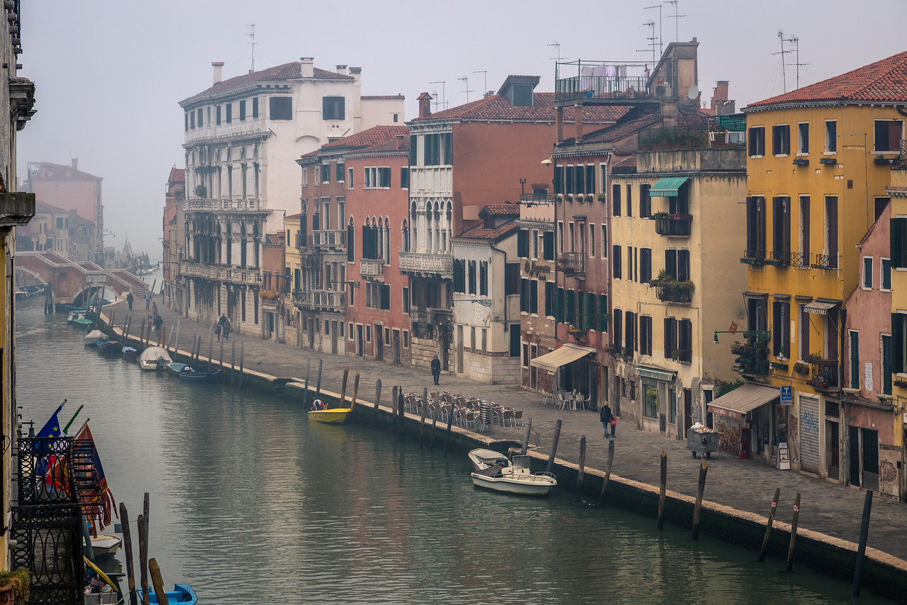 Early morning mist as the city of Venice starts to wake up.