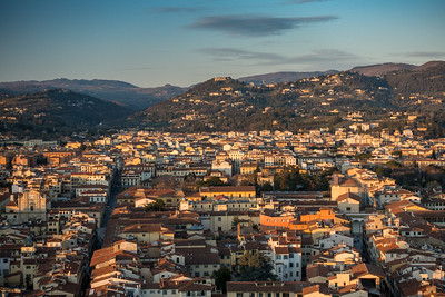 Florence cityscape and Tuscan hills
