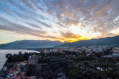Sunrise over Sorrento